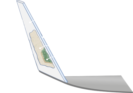 A smart winglet with integrated blade VHF